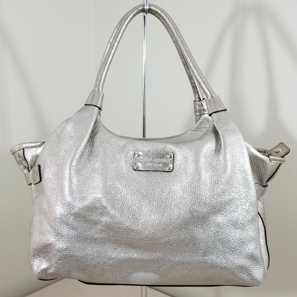 a1f218087b3 kate spade Bags   Metallic Silver Leather Hobo Handbag Purse   Poshmark